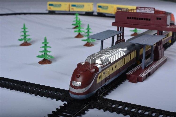 Train à vapeur Long 9.4 mètres Train piste électrique jouet simulation trains pour enfants camion pour garçons chemin de fer cadeau d'anniversaire