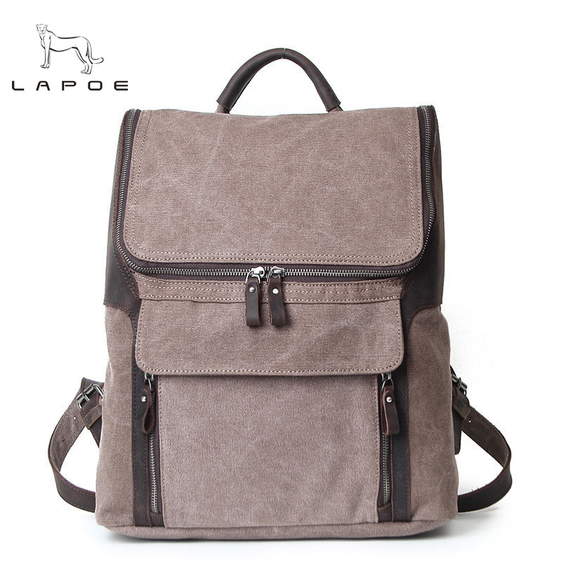 цена на Casual High quality canvas backpack belt zipper women men school bags vintage designer travel rucksacks laptop mochila girls