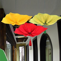 A1 The new Chinese Restaurant Restaurant square cloth pendant lotus aisle lamps new classical creative art decorative ZS131