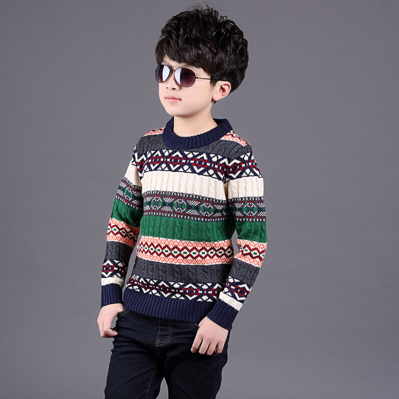 New boys sweater cashmere sweater in the winter of South Korea s children s sweaters t