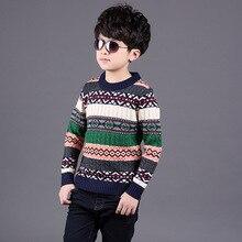 Новые мальчики свитер кашемировый свитер зимой Южной кореи детские свитера футболки утолщение цвет