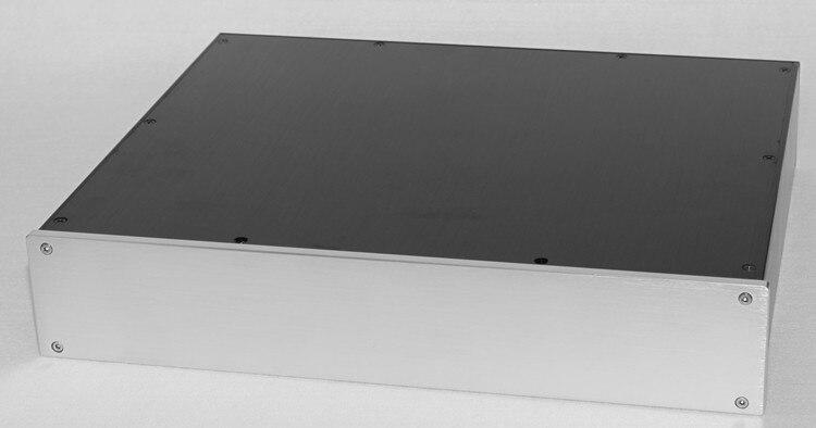 Alle aluminium vorverstärker rohr DAC verstärker chassis/AMP shell/fall/DIY box (425*80*350mm)