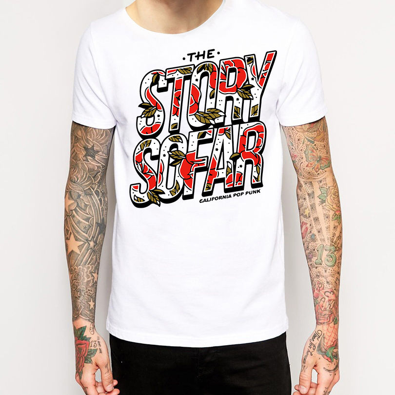 Personalized T Shirt Custom T Shirt The Story So Far T Shirt New Merchandise Pop Punk Mens Crew Neck Short-Sleeve Zomer T Shirt