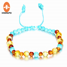 EAST WORLD Amber Bracelet Anklet for Babies Adults Teether Natural Handmade Jewelry Gifts Women Ladies Girls Fashion Present
