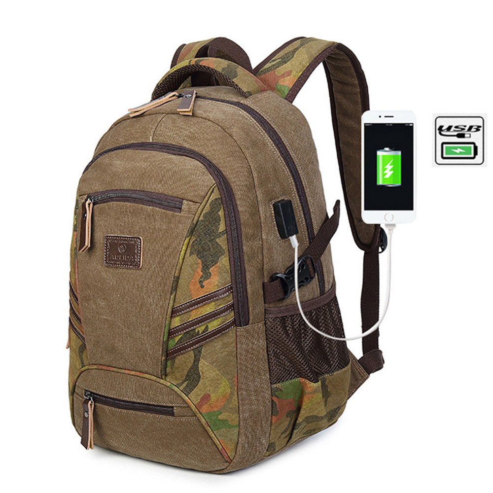 NEW Fashion Multifunction USB charging Men Laptop Backpacks For Teenager Male Mochila Leisure Camo Travel backpack Women Bag все цены