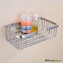 Nickel brossé en acier inoxydable salle de bains douche étagère panier métallique de stockage Caddy 09 – 140