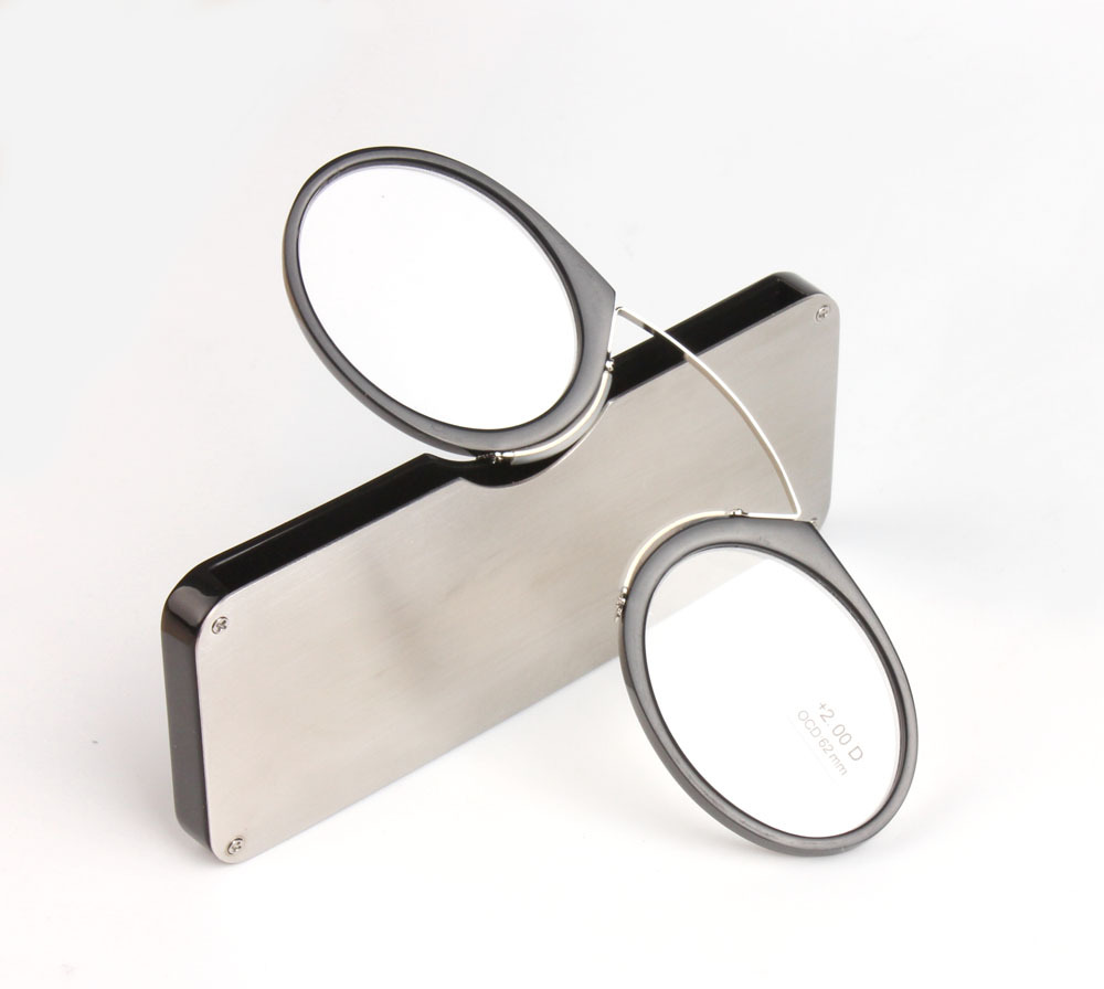 Portable Clip nose presbyopic glasses Wallet Reading Glasses with Case mini presbyopic glasses Credit Card Size Emergency Glass