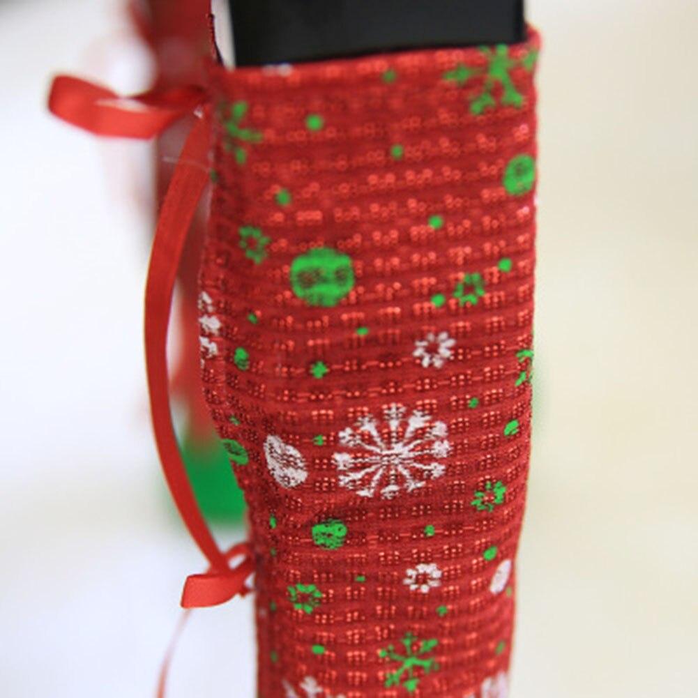Рождество Ресторан бары стулья Средства ухода за кожей стоп Крышка для рождественской вечеринки украшения ножку стула крышка сумки Средст...