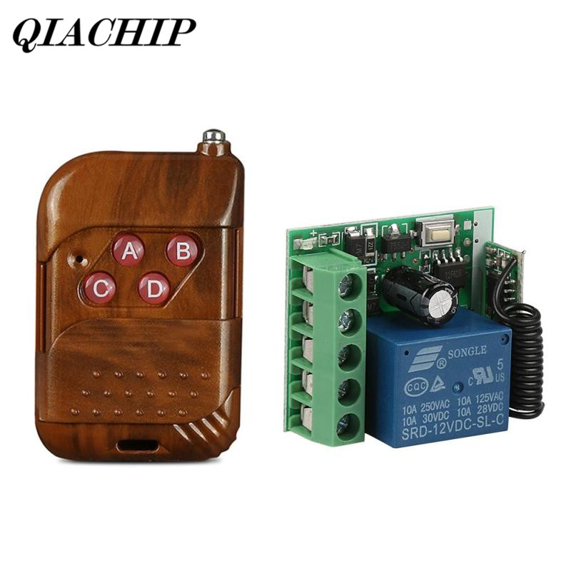 433Mhz Universal Wireless Remote Control Switch DC 12V 4CH Relay Receiver Learning Button Module 4 CH RF Remote Transmitter DS20 4 ch 433mhz wireless flash trigger transmitter receiver kit 4 x lr44 1 x 23a 12v