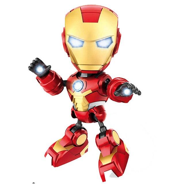 Endgame 4 Som e Luz Brinquedos The Avengers Marvel Capitão América Homem De Ferro Homem Aranha Batman Bonecos de Super-heróis Da Liga No Varejo caixa