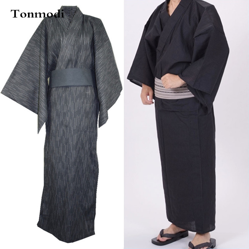 Bathrobe For Men Kimono Sleep Gown Robes Mens Long Nightgown