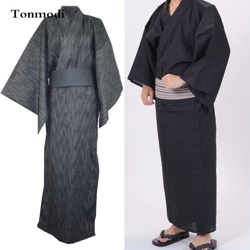 Bathrobe For Men Kimono Sleep Gown Robes Mens Long Nightgown