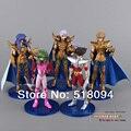 Envío gratis Anime Saint Seiya Shun Aries escorpio sagitario acción PVC Figure juguetes muñecas colección # a 5 unids/set SYFG002