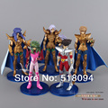 Free Shipping Anime Saint Seiya Seiya Shun Aries Scorpio Sagittarius PVC Action Figure Collection Toys Dolls #A 5pcs/set SYFG002