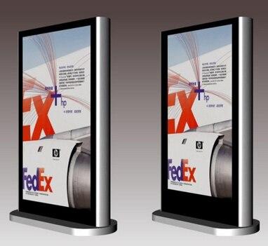 55 ''65 pouces en plein air publicité hd lcd affichage Double panneau lcd affichage numérique kiosque publicité joueurs LED affichages