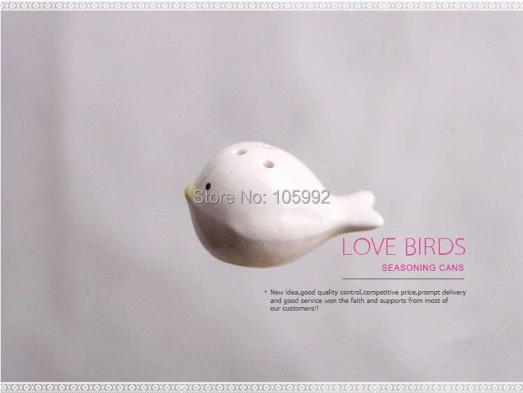 10 комплектов = 20 шт = 10 коробок перьевое гнездо любовь птицы Солонка и перец шейкер свадебные подарки свадебные украшения