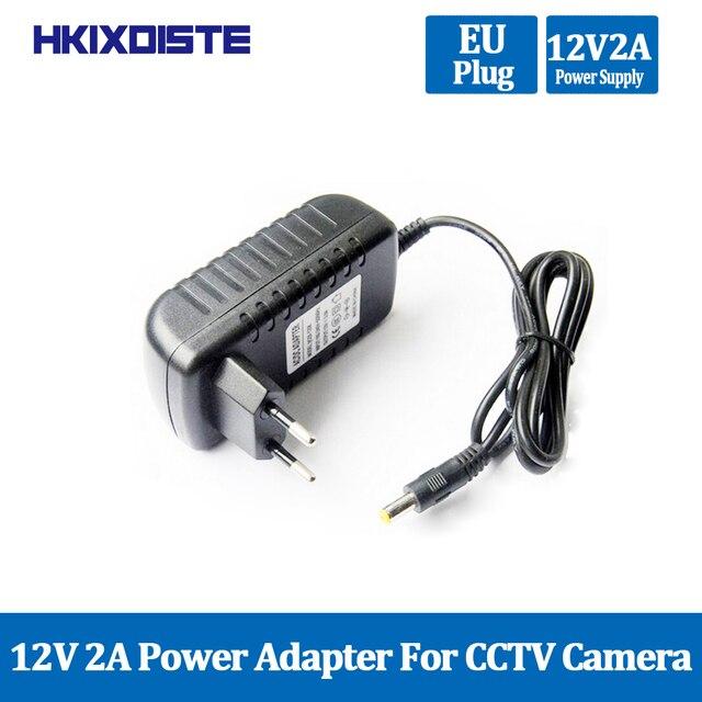 1PCS 12V2A AC 100 V 240V Konverter Adapter DC 12V 2A 2000mA Netzteil EU Stecker 5,5mm x 2,1 2,5mm für LED CCTV Kostenloser Versand