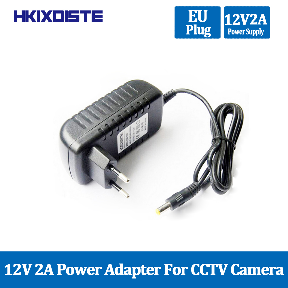 1PCS 12V2A AC 100V-240V Converter Adapter DC 12V 2A 2000mA Power Supply EU Plug 5.5mm X 2.1-2.5mm For LED CCTV Free Shipping
