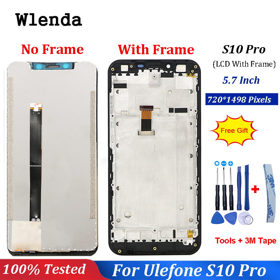 For Ulefone S10 Pro LCD Display+Touch Screen Assembly With Frame Repair 5.7 inch For Ulefone S10 Pro LCD Phone +free ToolsFor Ulefone S10 Pro LCD Display+Touch Screen Assembly With Frame Repair 5.7 inch For Ulefone S10 Pro LCD Phone +free Tools