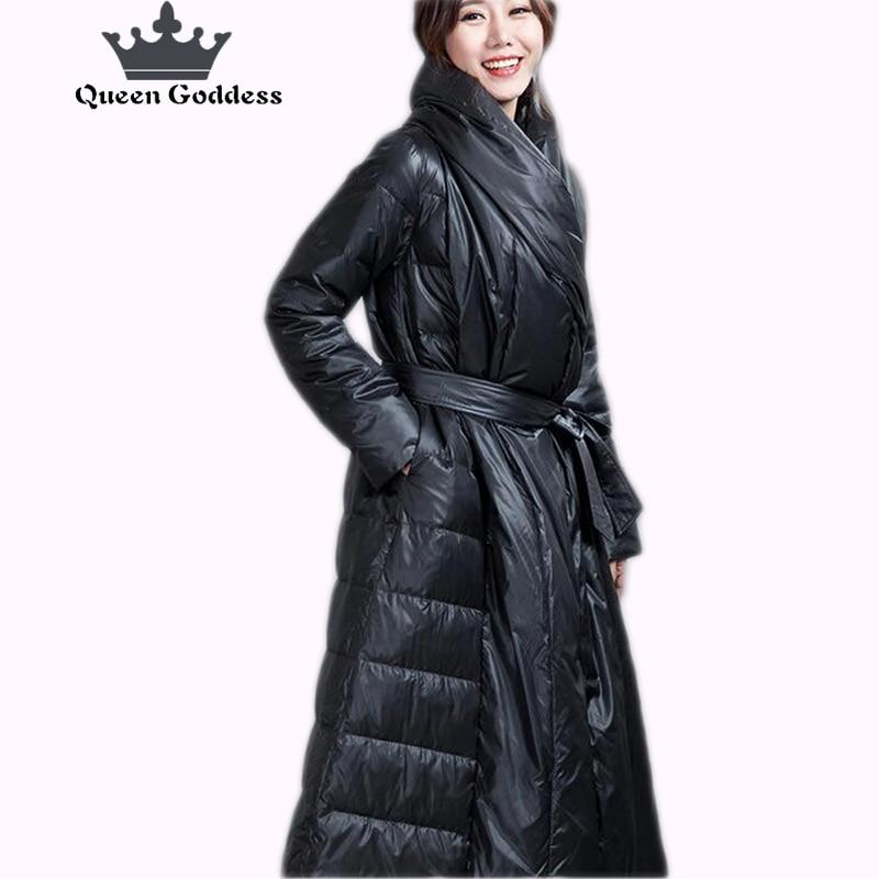 La nouvelle conception spéciale de collier d'hiver de femmes slim style chaud vers le bas veste usine vente meilleur prix 90% blanc duvet de canard haute-fin