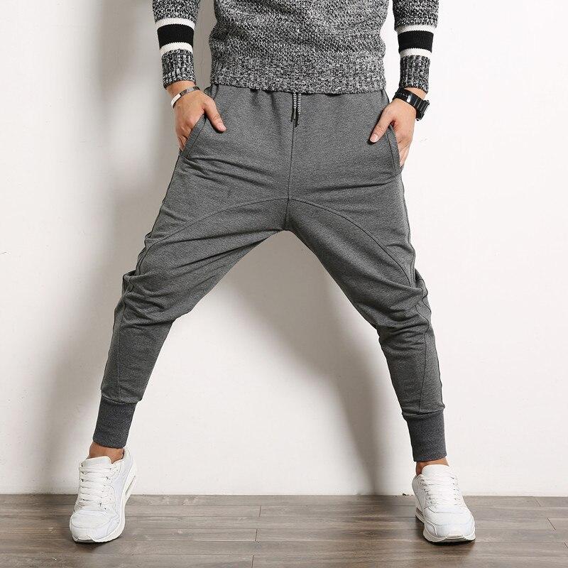 2018 Autumn Casual Men Harem Pants Baggy Cross Man Pants Street pantalon Fashion Mens Joggers Sweatpants Hip Hop Trousers Male