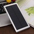 12000 мАч Ультра Тонкий Супер Тонкий Matal Солнечной Энергии Банк Внешний Блок Батарей Зарядное USB Зарядное Устройство для iPhone iPad Samsung Tablet