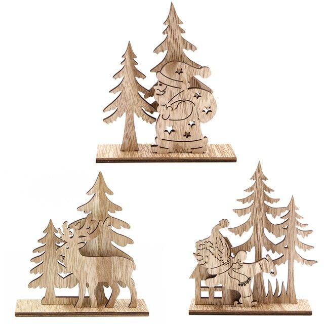 Christmas Ornaments Diy Wood Crafts Santa Claus Snowman Wooden