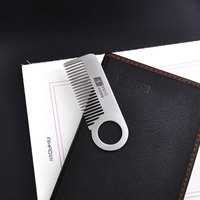 Feiye Brand Boys Portable Hair All Metal Stainless Steel Comb Anti Static Defense Comb Simple Small