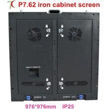 P7.62 крытый 16 сканирования 976*976 мм железный шкаф с дверью для аренды или исправление установки led дисплей