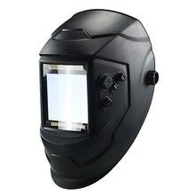 Grande janela 4 sensores ajuste externo din 5 din 13 solar escurecimento automático máscara de soldagem capacete