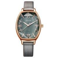 Top Julius Brand Woman Watch Rose Gold Dress lady Leather Quartz Watch girl Watches Clock Creative Barrel shape Roman character