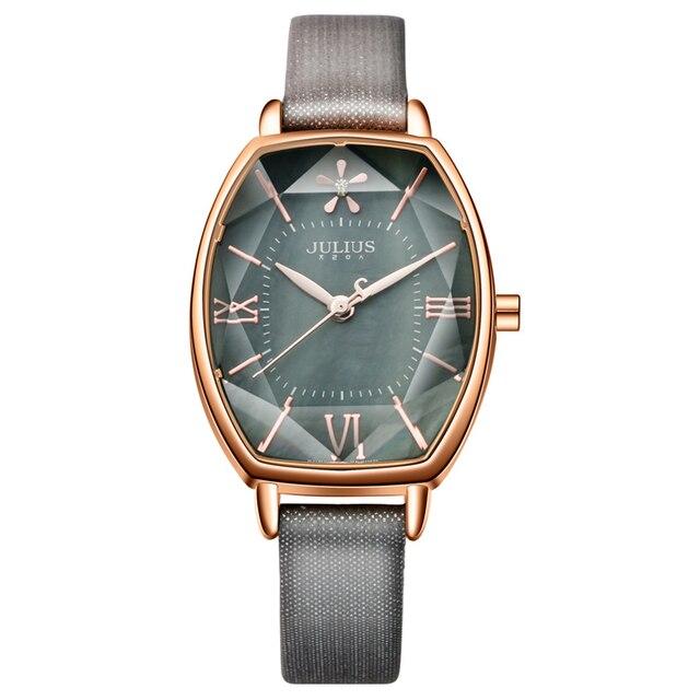 Top Julius Brand Woman Watch Rose Gold Dress lady Leather Quartz Watch girl Watc