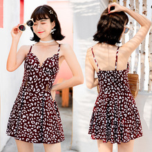 2019 Summer Women Printed New Hot Spring Swim Suit Dress One Piece Skirted Bathing Suits Swimwear