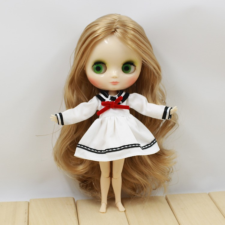 Middie Blythe Doll Student Uniform With Bow 4