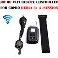 Gopro hero wifi controlador remoto inalámbrico rc cargo cable de pulsera correa para gopro go pro hero 4 3 + 3 cámara negro accesorios