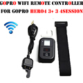 Gopro hero wifi remote controller + cabo de carga de pulso sem fio rc cinta para gopro go pro hero 4 3 + 3 câmera preto acessórios