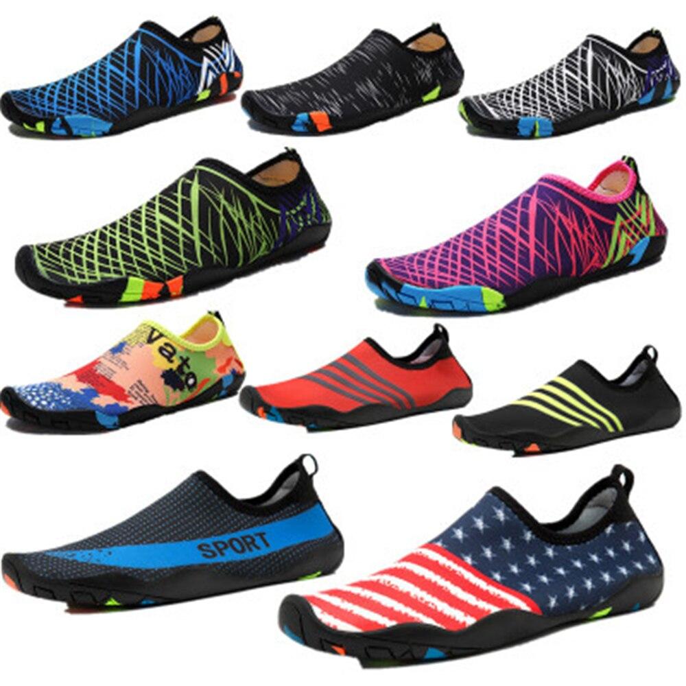 Взрослые Унисекс мягкой плоской подошве Приморский aqua обувь прогулочная Lover yoga обувь Для мужчин и женская пляжная обувь водонепроницаемая ... ...