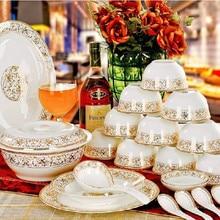 Tableware jingdezhen ceramic bone china quality 56 dishes set quality bone china dinnerware set