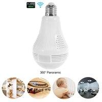 960P Wireless Panoramic IP 3D VR Camera WIFI E27 Bulb Light FishEye Surveillance 360 Degree CCTV