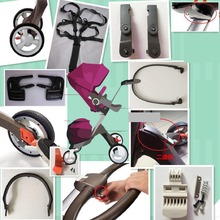 dsland ST v3 v4 v6 Baby Stroller Accessories raincover Cup holder. Brake armrest, seat belt. button shopping bag(China)