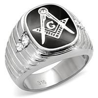 2015 New Ariival Stainless Steel Ring For Men Crystal Black Enamel Engagement Ring Hand Made Letter