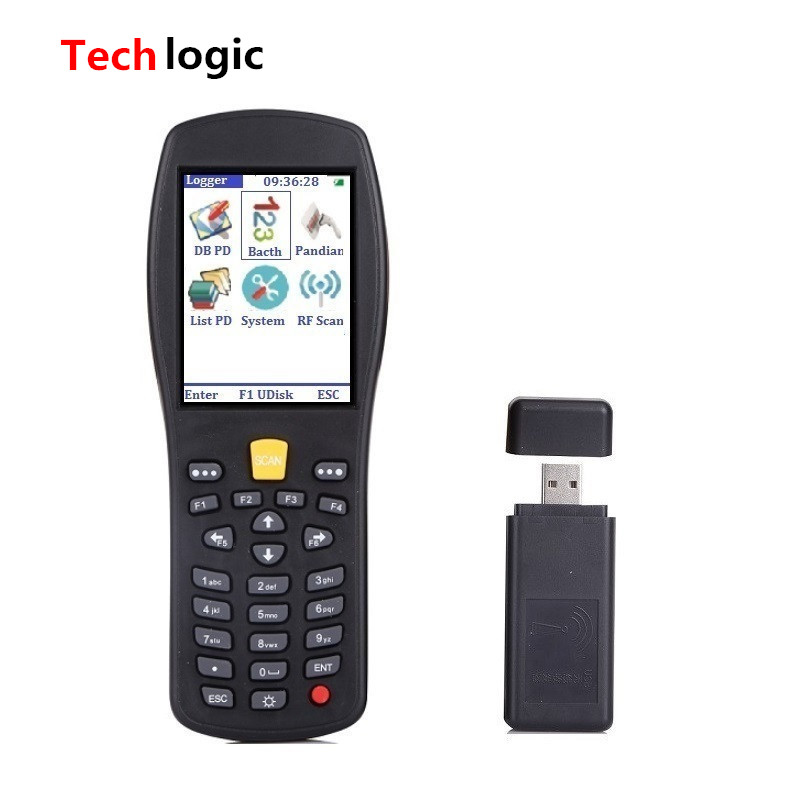 Techlogic X7 Wireless Laser Barcode Scanner Handheld Termindal PDA Barcode Reader for Warehouse Supermarket Inventory Bar Gun techlogic x3 wireless barcode scanner inventory bar code scanner handheld terminal pda laser barcode reader bar code gun