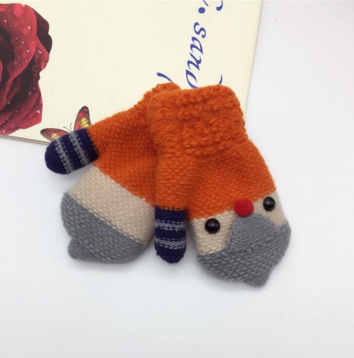 Autumn and winter childrens thicken warm knitted gloves boy and girl kids winter lovely cartoon bird mitten R147