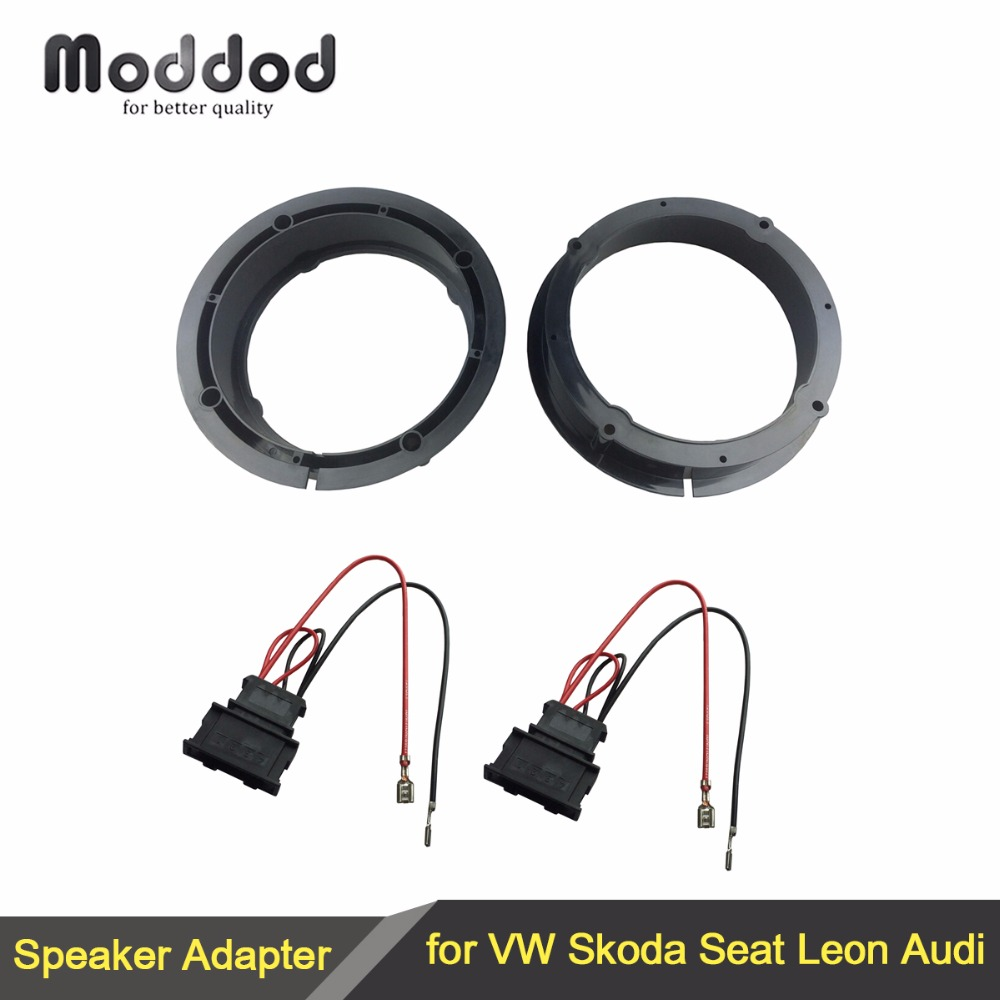 "Speakers Adaptor for VW Golf IV Passat Polo Skoda Seat Leon Audi Speaker Adapter Rings 165mm 6.5"" Kit Spacers Height 40mm"