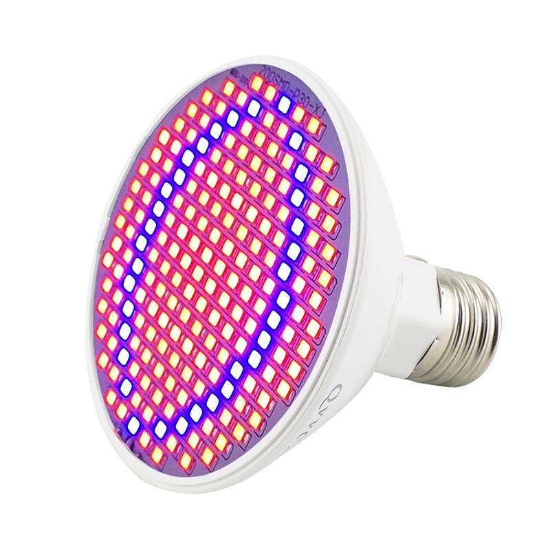 5 st 200 LED växer ljus inomhus växande lampor E27 lampa för - Professionell belysning - Foto 2