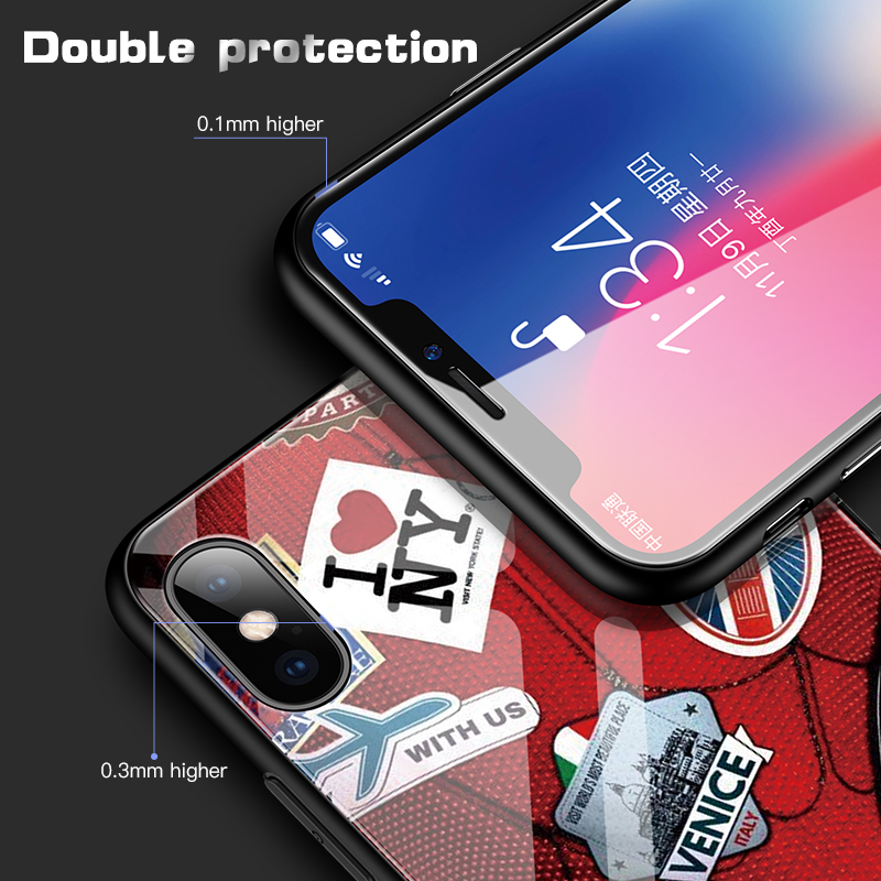 Marvel Spiderman Tempered Glass Phone Case For iPhone XSmax XR XS X 8 7 6s 6 Plus Luxury Avengers Protection Cover Coque Funda in Fitted Cases from Cellphones Telecommunications