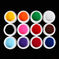 12pcs/set Pure Solid Color Nail Art Acrylic UV Gel For Tips Extension Builder nail paiting drawing Polish gel set Manicure tool