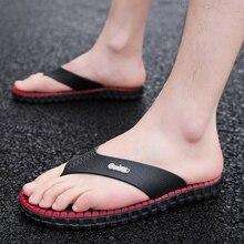 Модные брендовые Летние вьетнамки модные Мужская обувь тапочки письмо Для мужчин Разноцветные мужские пляжные сандалии открытый Для мужчин Тапочки