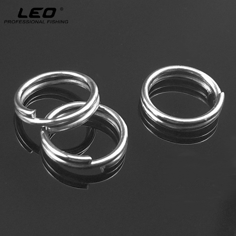 100pcs/pack Stainless Steel Fishing Split O Rings for Connecting Blank Lures Crank Bait to Fishhooks Fishing Lure Accessories 100 pcs set fishing split rings for crank hard bait silver stainless steel double loop split open carp tool fishing accessories