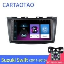 """9 """"Android 8.1 GO araba DVD OYNATICI Suzuki Swift 2011 için 2012 2013 2014 2015 araba radyo GPS navigasyon WiFi oynatıcı 2din"""